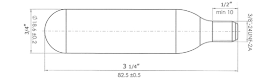 Co2 Cartridge Diameter